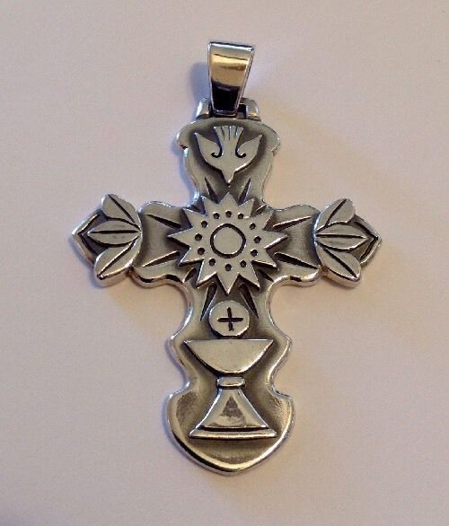 James avery large cross pendant rare sterling silver ebay james avery large cross pendant rare sterling silver ebay aloadofball Gallery