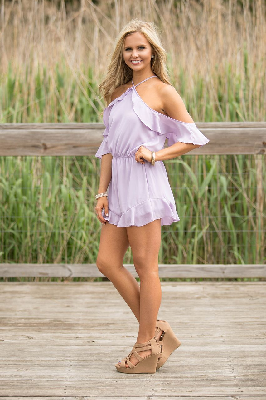 97376465198b A Perfect Song Romper Lavender - The Pink Lily
