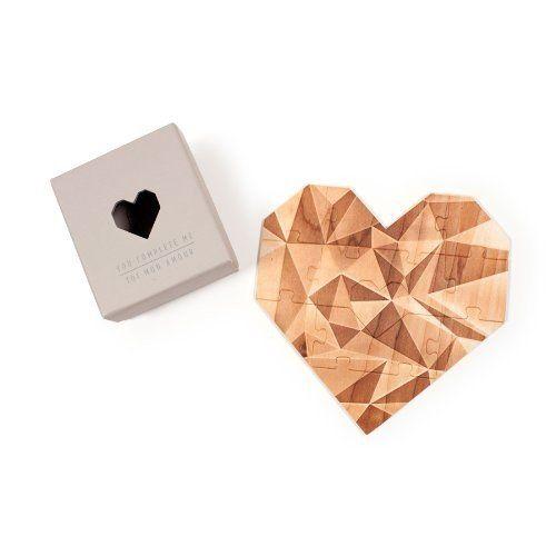 Schreiben Sie Ihre Romantische Liebesbotschaft Auf Die Hochwertige  Holzpuzzle Karte In Herzform. So überraschen