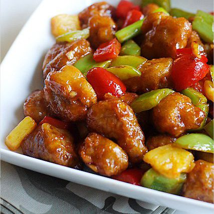 Sweet and sour pork recipes pinterest pork recipes and easy chinese recipes with pork food fast recipes forumfinder Gallery