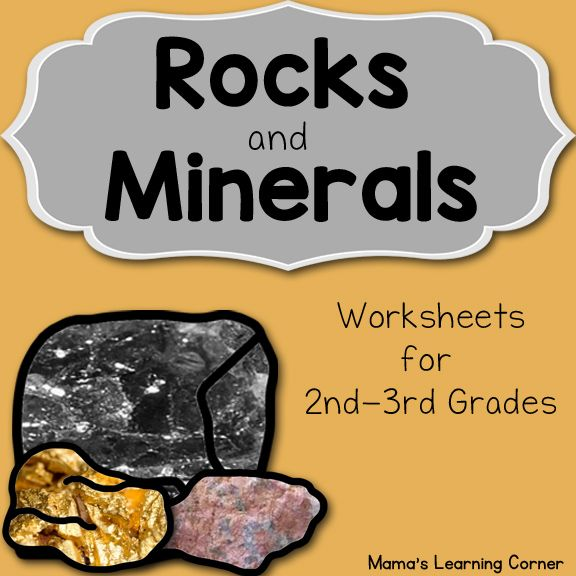 Rocks And Minerals Unit Study Resource Packet Teacher