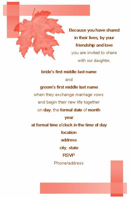Wedding Invitation Verses  Wedding Invitation Wording Templates