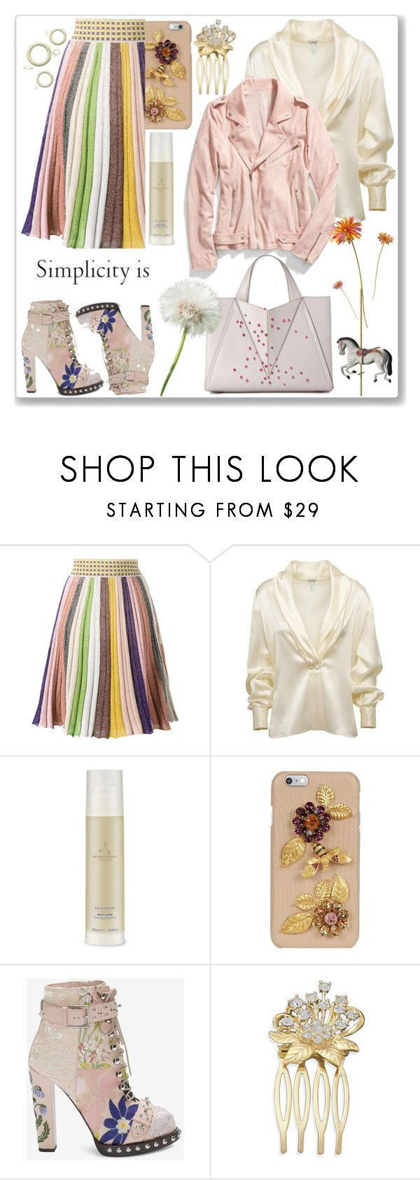 """""""#Stripes Contest"""" by detroitgurlxx ❤ liked on Polyvore featuring Missoni, Loewe, Aromatherapy Associates and Dolce&Gabbana"""