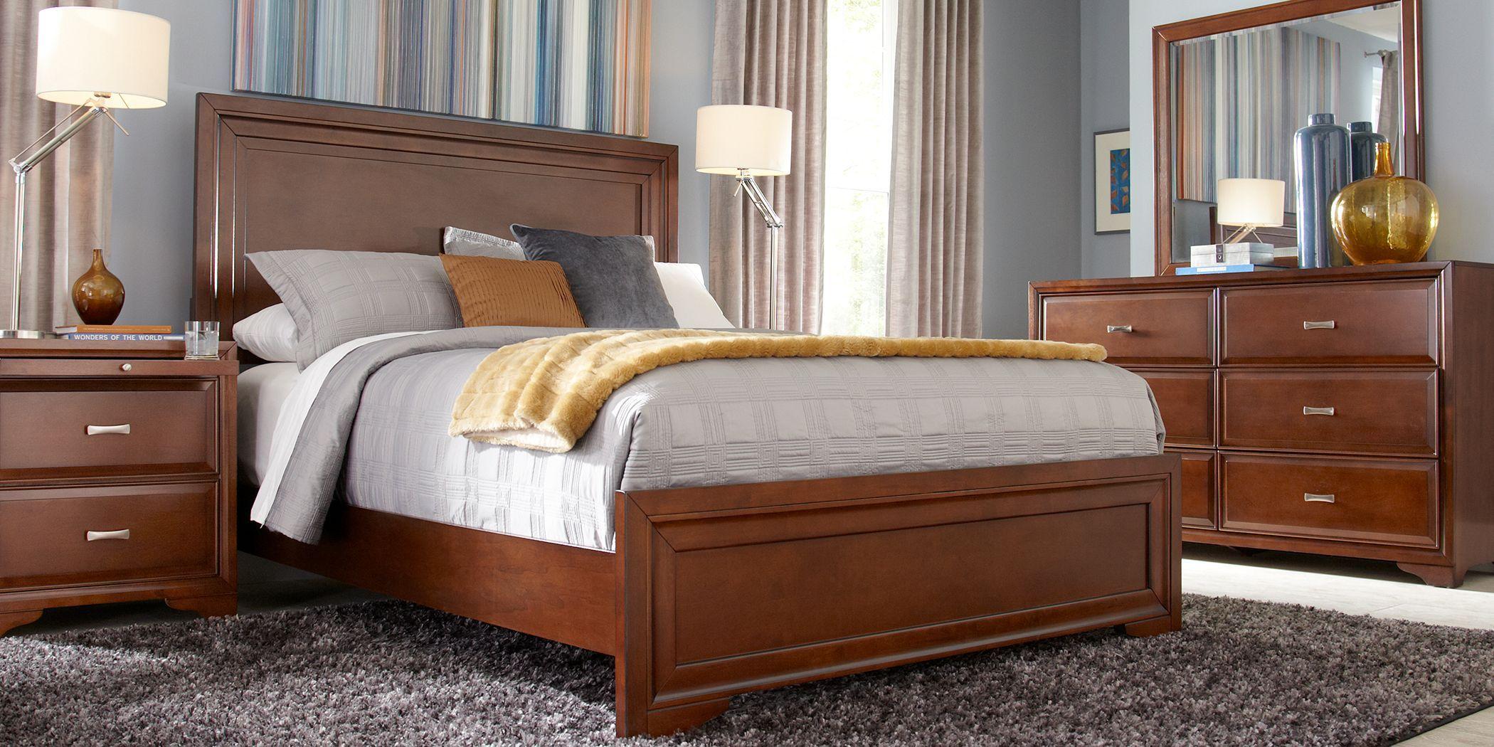 Belcourt Cherry 7 Pc Queen Panel Bedroom in 2019 | King size ...