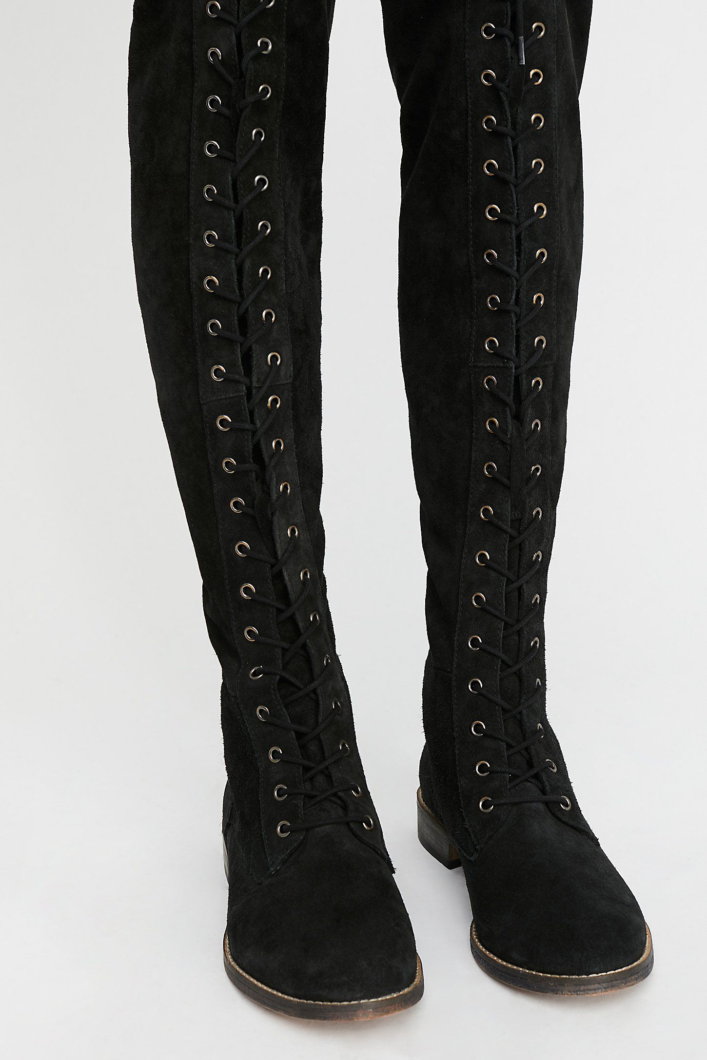 fb97b5d0c479 Tennessee Lace Up Boot - Black suede