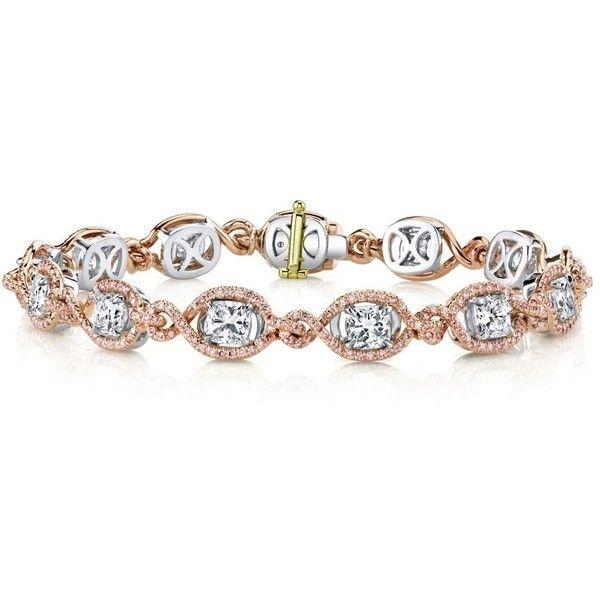 Harry Kotlar Kotlar Cushions with white & pink diamonds pave link Bracelet KsgBxsQ2U