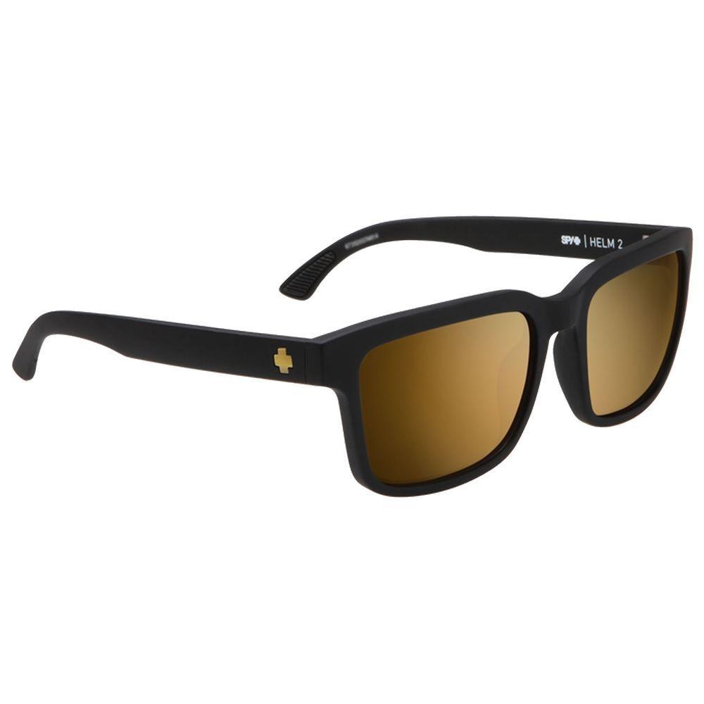 07536caf39aa eBay  Sponsored Spy Helm 2 Matte Black Happy Bronze With Gold Spectra  Sunglasses