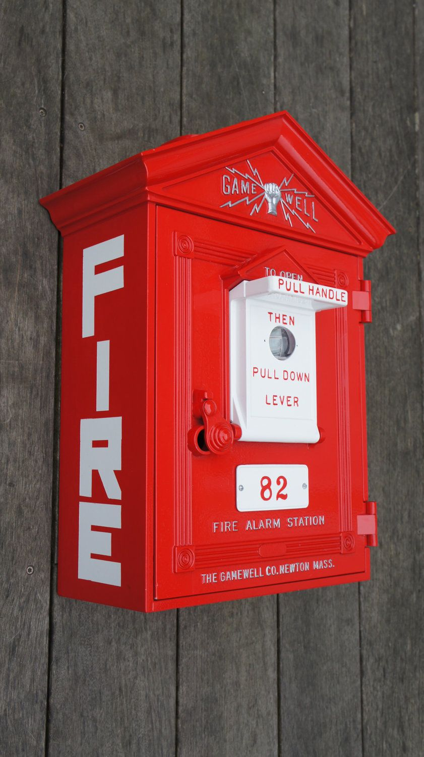 Antique Gamewell Fire Alarm Station Box.