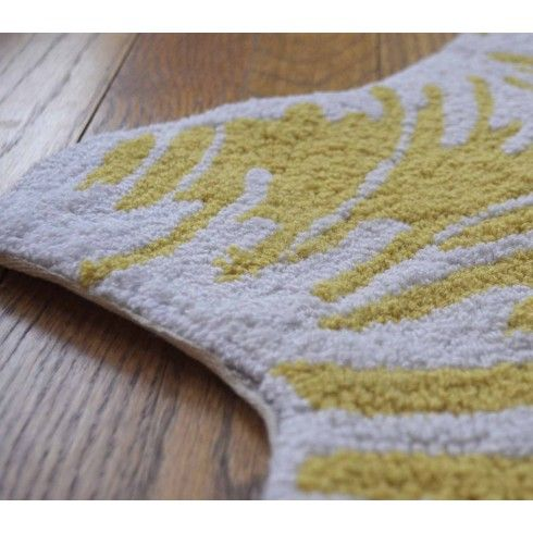 Yellow and Cream Zebra Rug