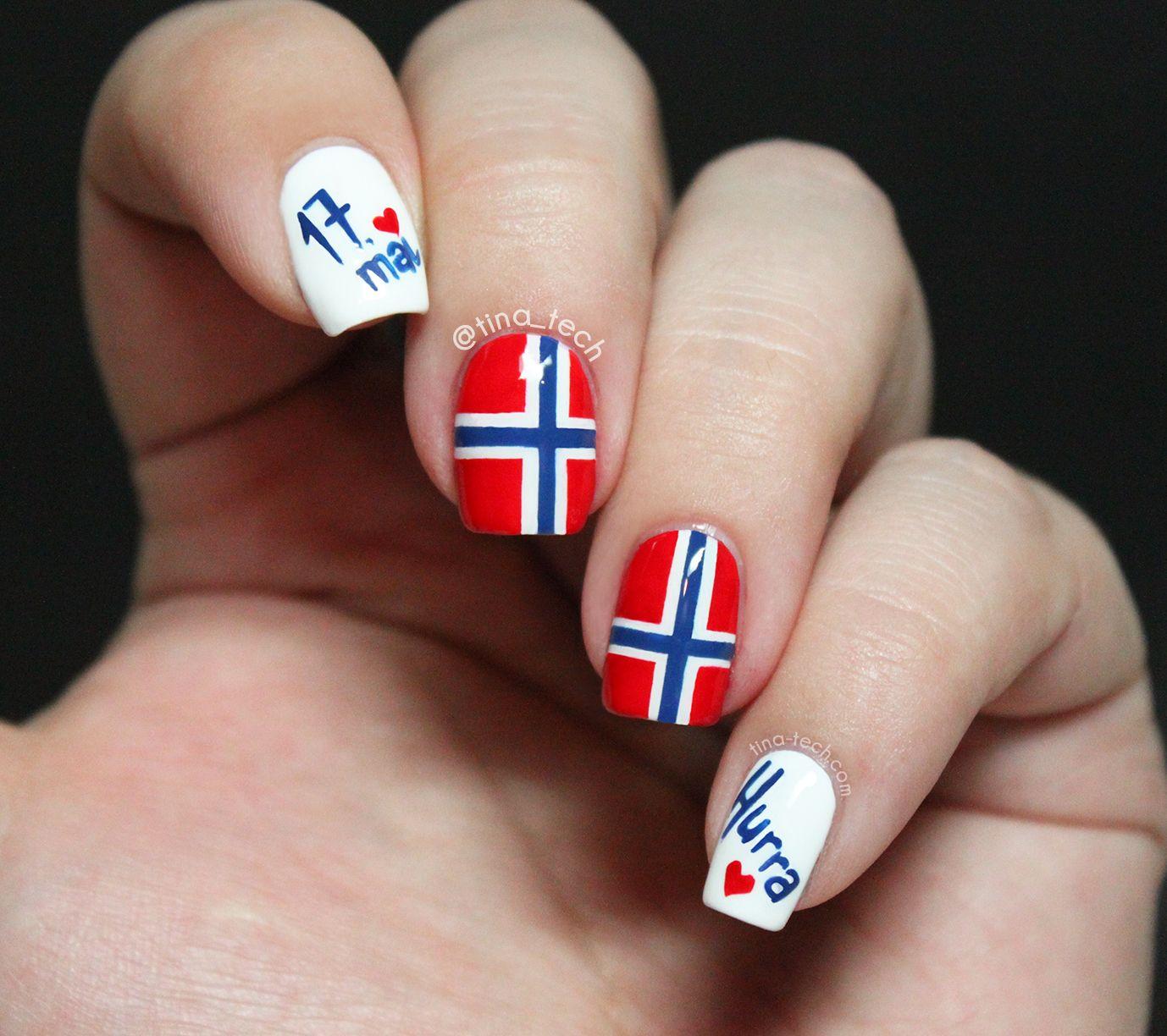 mai neglelakk norway nails flag