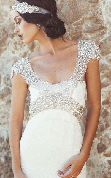 f8853a40c Vestidos de novia para embarazadas  Fotos de trajes nupciales (13 56 ...