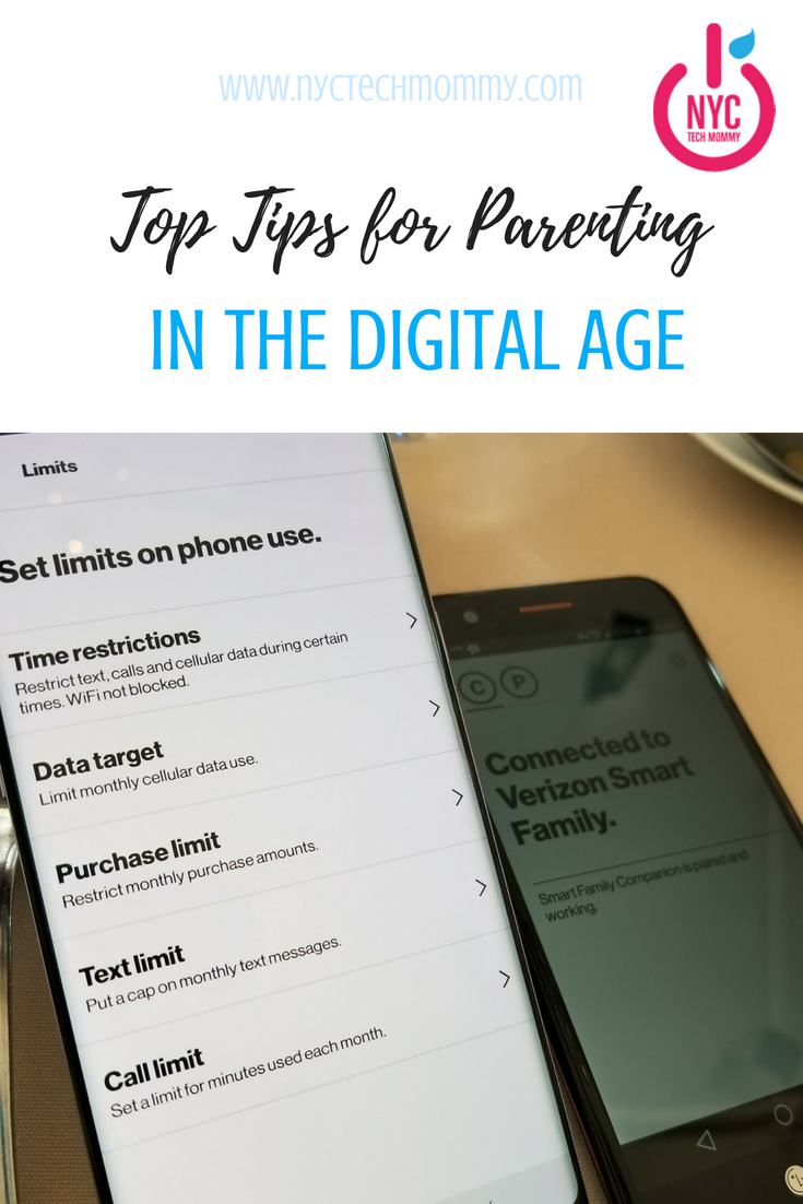 Top Tips For Parenting In The Digital Age With Verizon Smart Family Nyc Tech Mommy Parenting Parenting Tools Kids Electronics