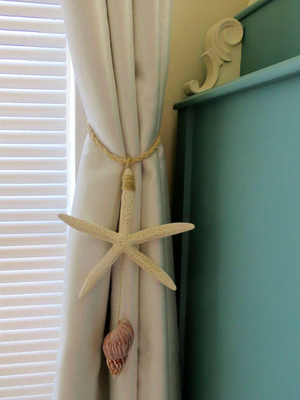 Beach Decor Starfish Tie Back Beach Tiebacks Curtain Tie Back