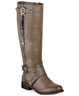 G by GUESS Women's Hertle Tall Shaft Wide Calf Riding Boots - Wide Calf  Boots -