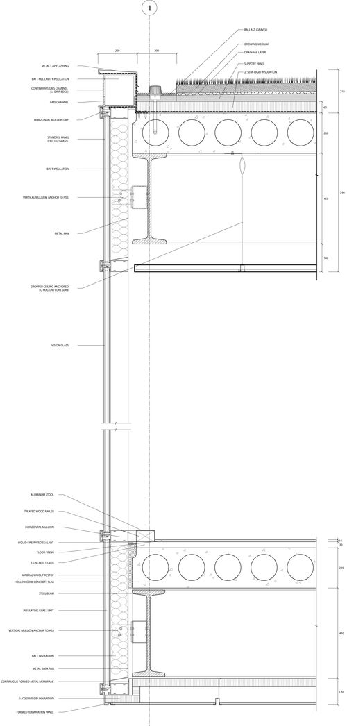 Wall Section1 10 Jpg 500 1046 Curtain Wall Detail Architectural Section Wall Section Detail