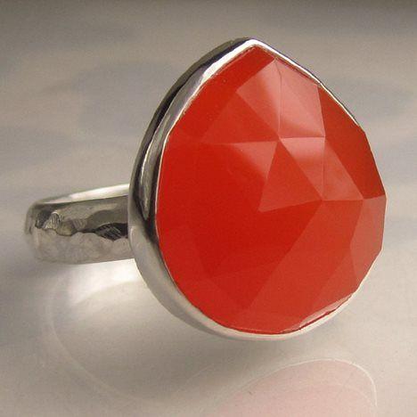 Rose Cut Carnelian Cocktail Ring