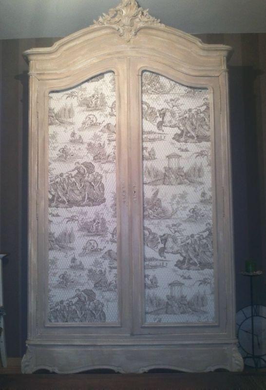armoire patinée champignon RELOOKING MEUBLES Pinterest Armoires - Repeindre Un Meuble En Chene