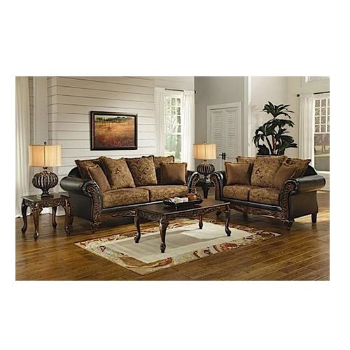 Woodhaven classic sienna chocolate living room collection - Woodhaven living room furniture collection ...