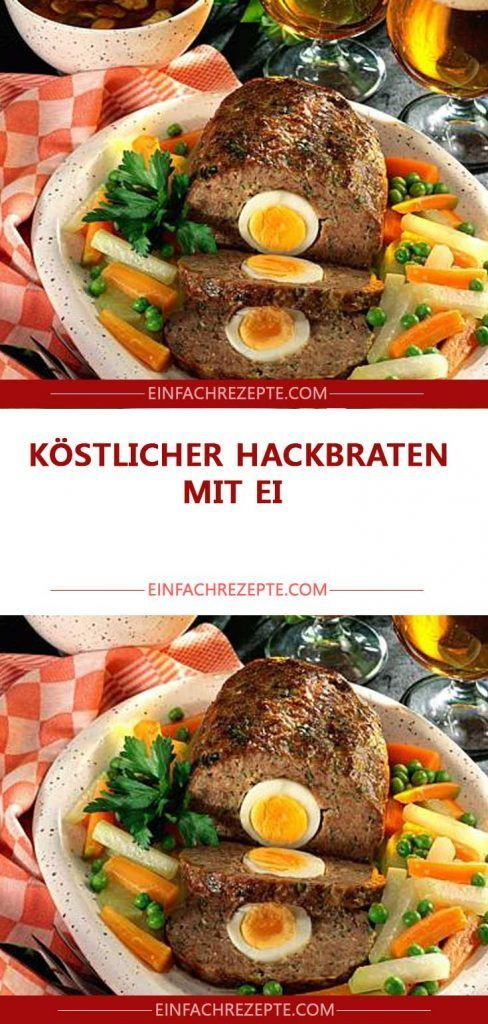 Photo of Köstlicher Hackbraten mit Ei 😍 😍 😍