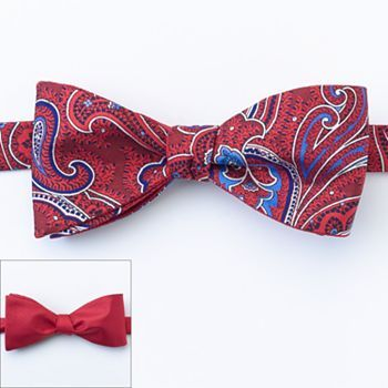 375fe2b0b3e9 Croft and Barrow Solid and Paisley Reversible Bow Tie - Men. Homecoming for  sure