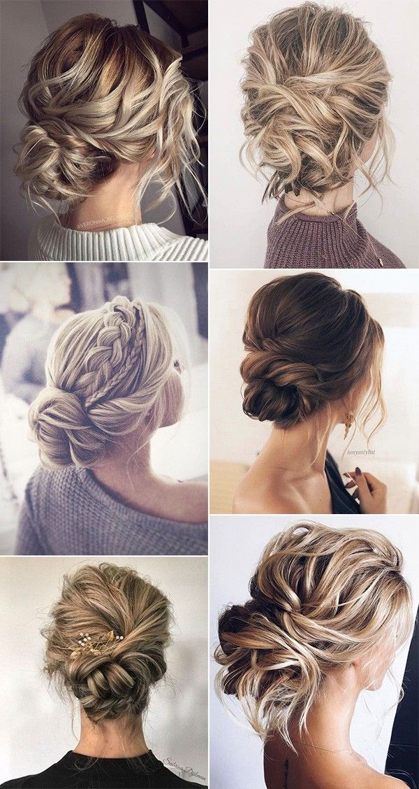 18 Trending Messy Updos Wedding Hairstyles You Ll Love Oh Best Day Ever Hair Styles Bridal Hair Updo Bridesmaid Hair