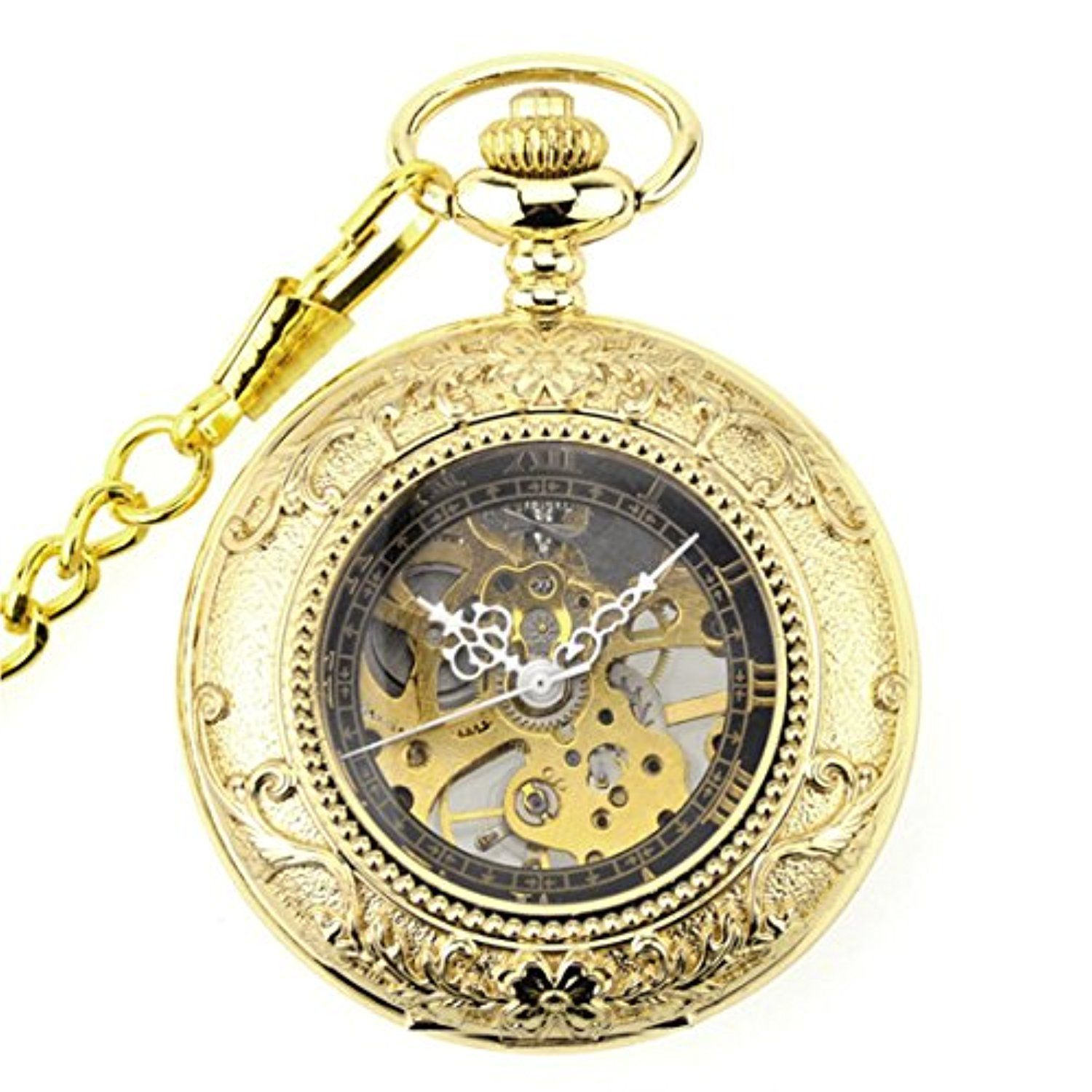 WZC Men's Mechanical Pocket Watches with Reading Glasses -- Awesome products selected by Anna Churchill