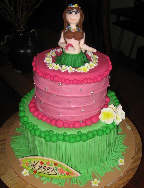 Hawaiian themed birthday cake Bee cakes Cake designs and Hawaiian