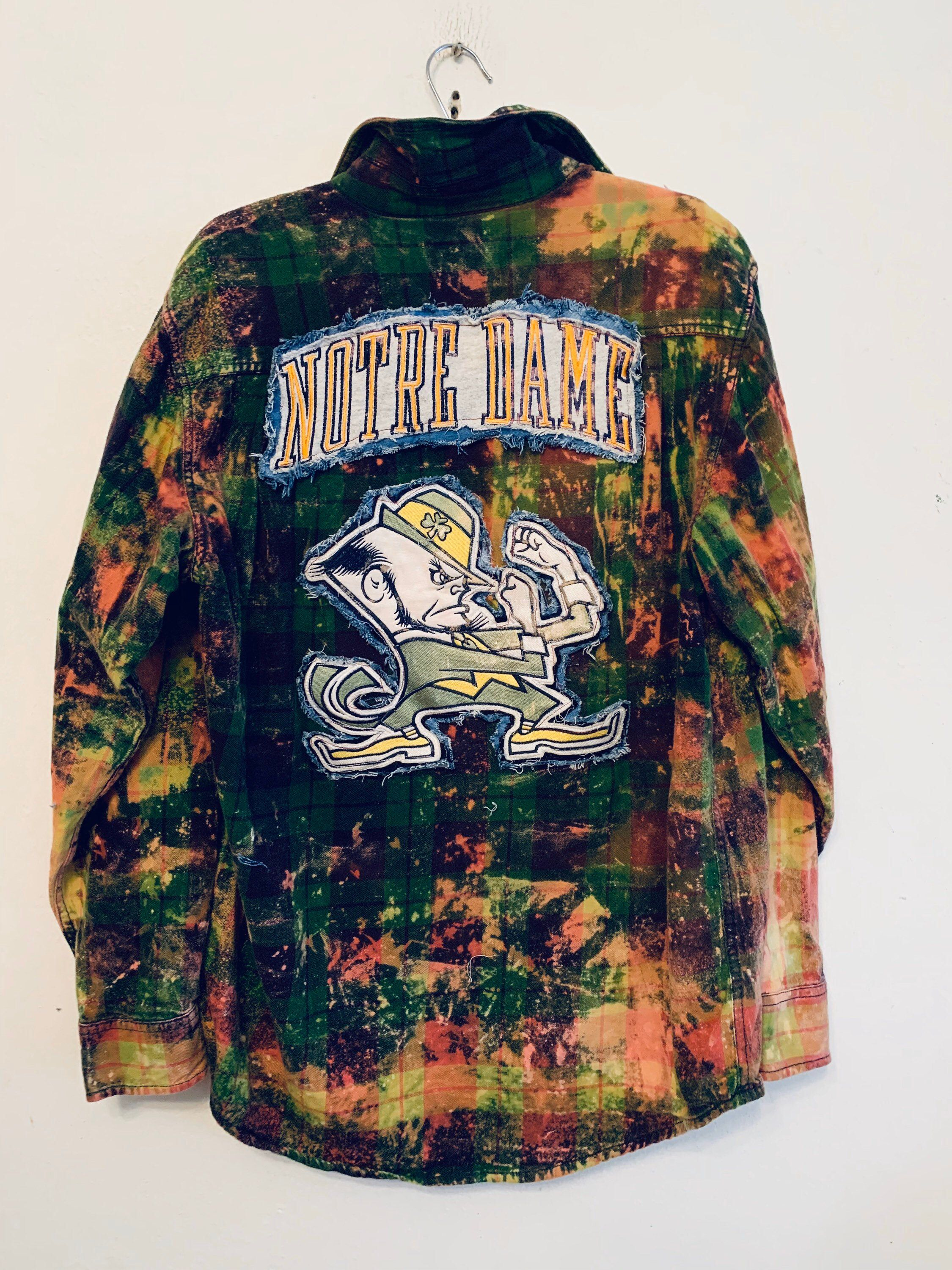 Notre Dame Fighting Irish Upcycled Flannel