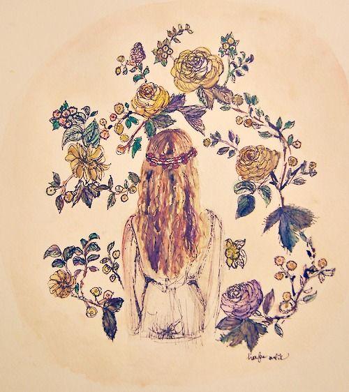 Bohemian Gardenby Hafsa Malik to see more work,Follow her art Tumblr