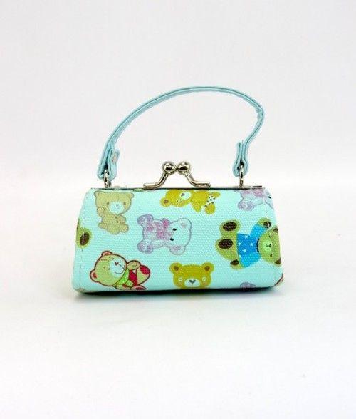 Doll Purses - Cute Teddy Bear Design Green