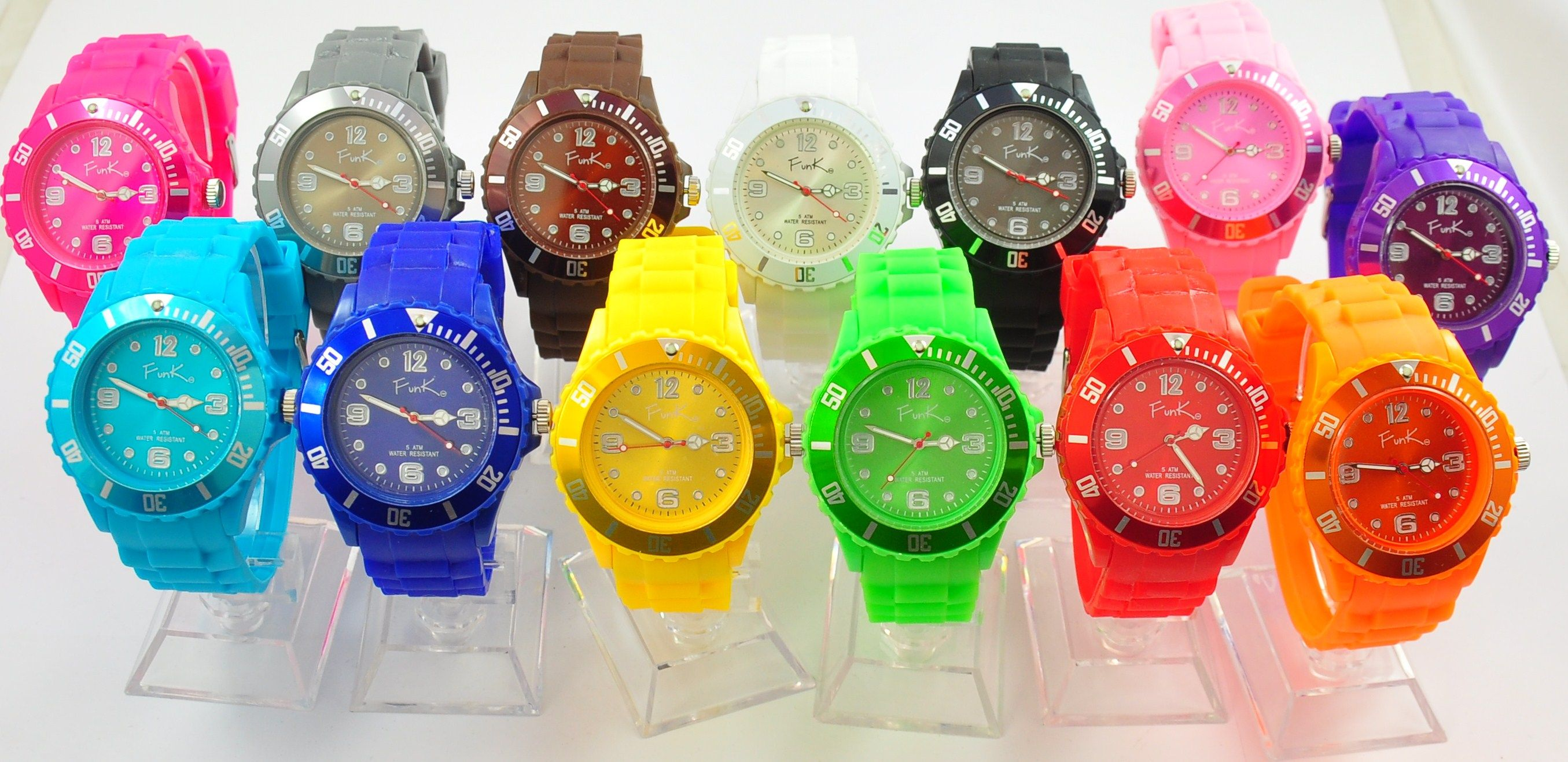 FunK co Watches in 13 vibrant colours