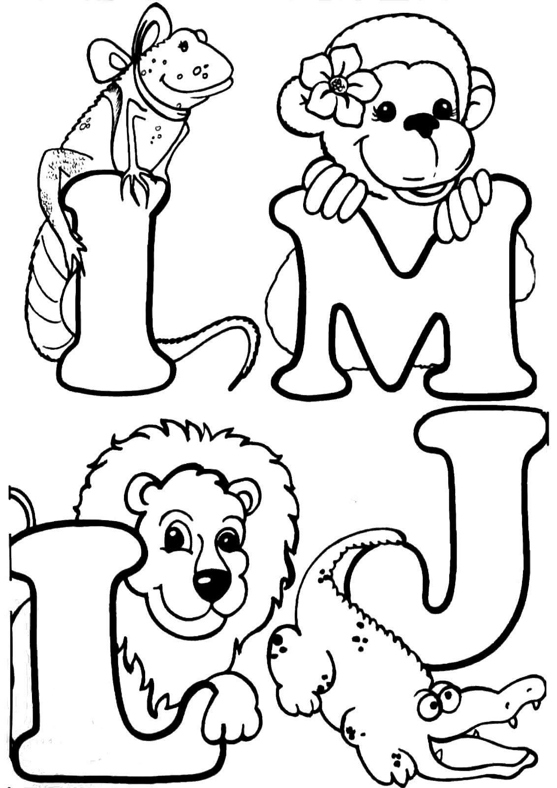Letras Del Abecedario Para Colorear Dibujos Imagixs | LAURIE ...