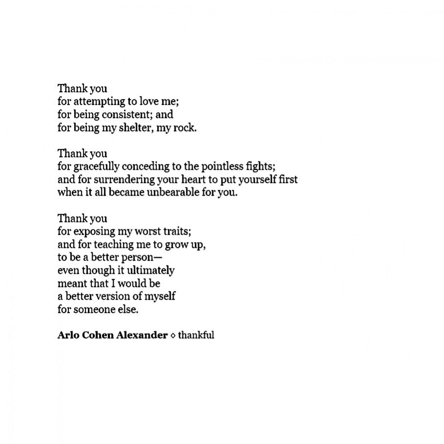 Thank You For Making Me A Better Person Arlo Cohen Alexander