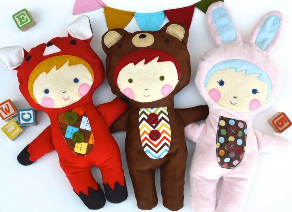 Animal Pattern Sewing Pattern | Nähideen, für Kinder und Puppen