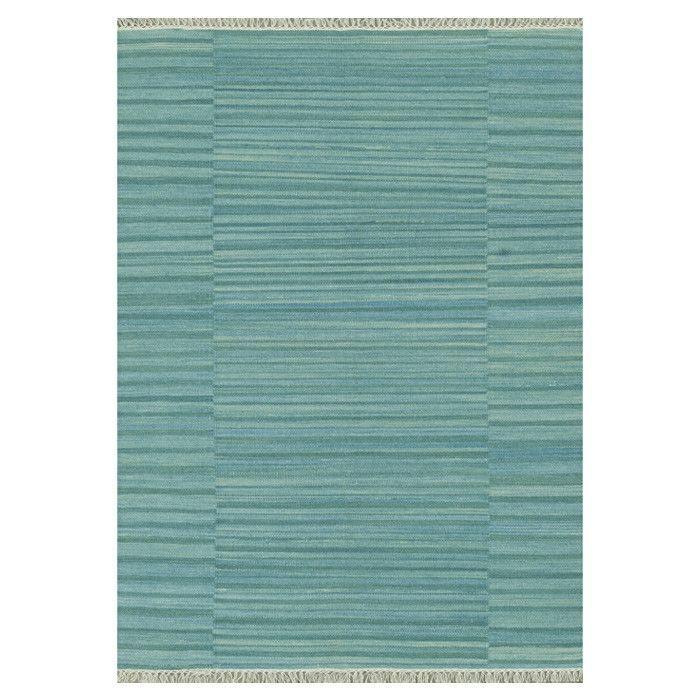 Hand-Woven Blue Area Rug