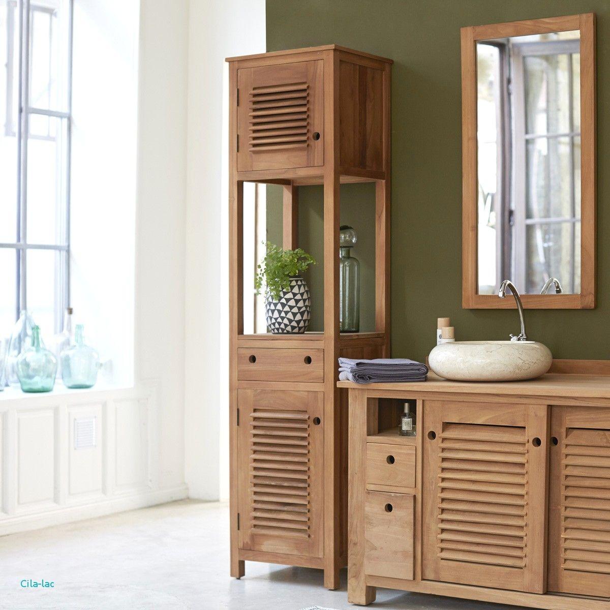 Inspiration Badezimmer Fliesen Mit Badschrank Bambus