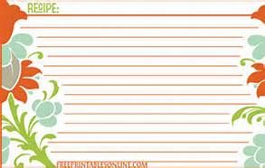 Free Printable 3x5 Recipe Cards Bing Images Recipe Cards