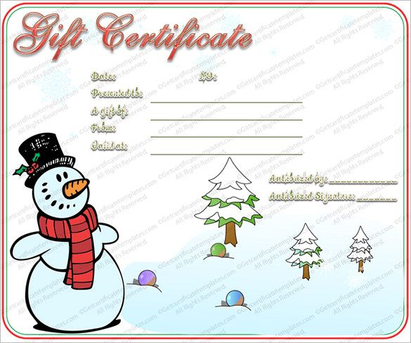 10 christmas gift templates word excel pdf templates - Christmas Gift Certificate Template Word