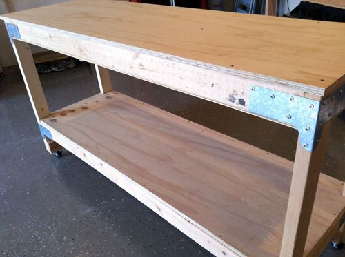 How To Make A Work Bench Diy Workbench Workbench
