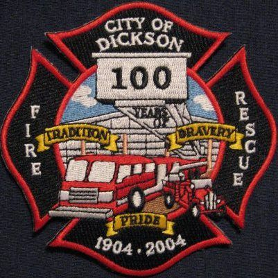 Dickson Fire Department - Dickson, Tennessee #fire #patches #setcom  http://setcomcorp.com/firewireless.html