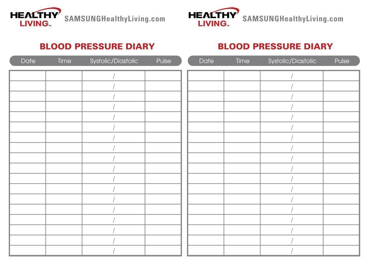 Image Result For Blood Pressure Record Chart Pdf Nursing Blood