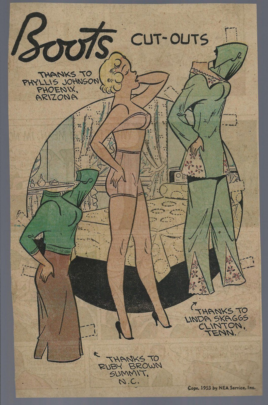 9-6-53 Boots paper doll / eBay