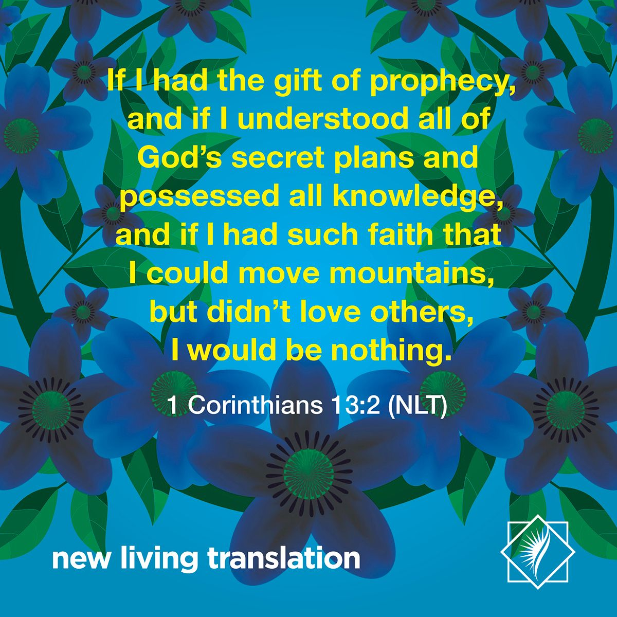 If i had the gift of prophecy and if i understood all of