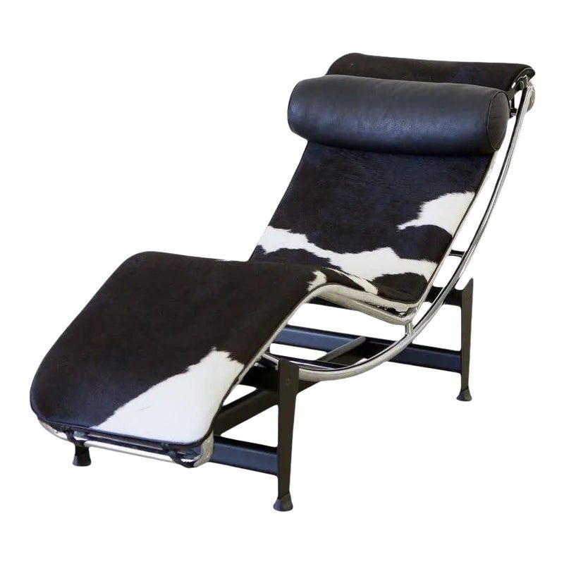 Le Corbusier Lc4 Chaise With Chrome Frame Natural Hide By Gordon International In 2020 Vintage Lounge Chair Le Corbusier Chaise