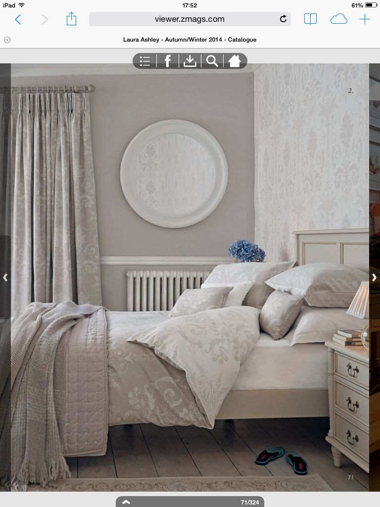Laura Ashley Josette Dove Grey - my room.  Bedroom wallpaper