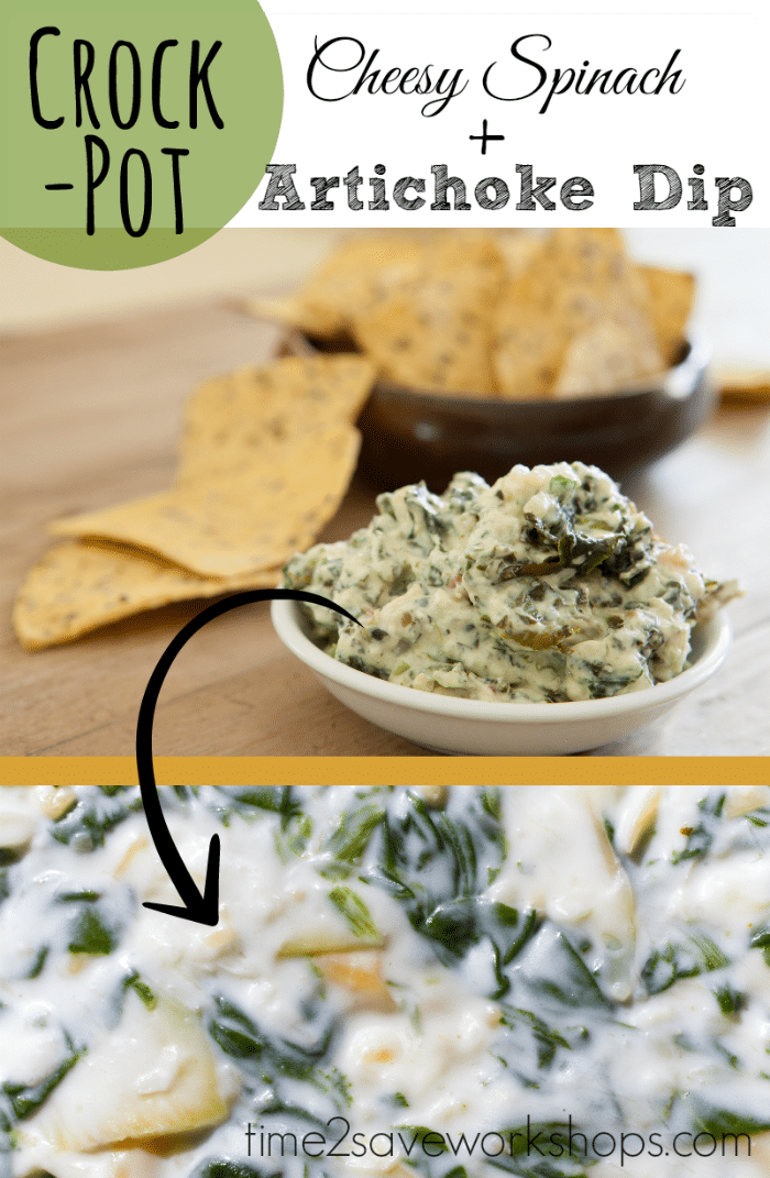 This Crockpot Cheesy Spinach Artichoke Dip is a real crowd pleaser - perfect for Football afternoons! Make it for any holiday party. #kaseytrenum #spinachartichokedip #spinachdip #artichokedip #crockpotdip #easyappetizer #partyfood #crockpotspinachandartichokedip This Crockpot Cheesy Spinach Artichoke Dip is a real crowd pleaser - perfect for Football afternoons! Make it for any holiday party. #kaseytrenum #spinachartichokedip #spinachdip #artichokedip #crockpotdip #easyappetizer #partyfood #crockpotspinachandartichokedip