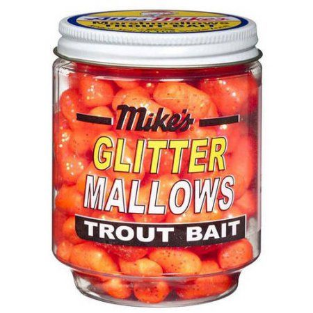 Atlas Mike's Bait Glitter Glo Mallows, Orange