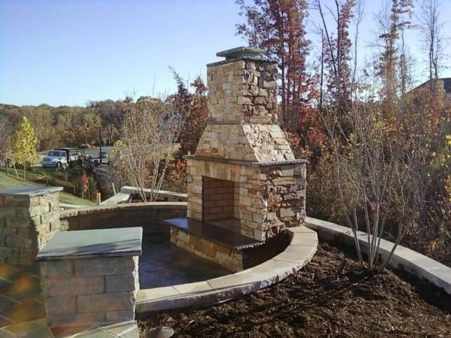 project yourself outdoor fireplace diy outdoor stone fireplace