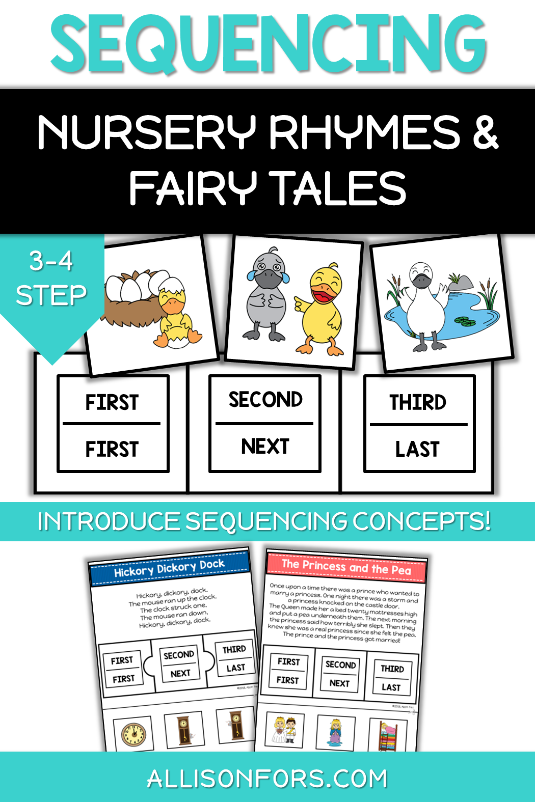 Nursery Rhymes And Fairy Tales Sequencing
