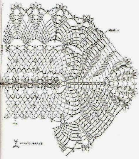 Kira scheme crochet: Album oval tablecloth